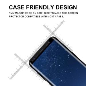 Folie sticla curbata Full Glue Samsung Galaxy S8 Plus, Negru