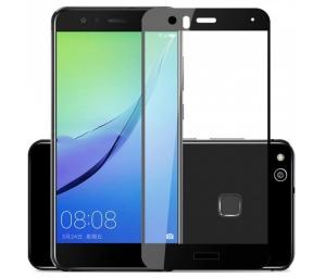 Folie sticla securizata 5D Full Glue Huawei P10 Lite, Negru