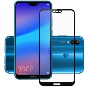 Folie sticla securizata 5D Full Glue Huawei P20 Lite, Negru