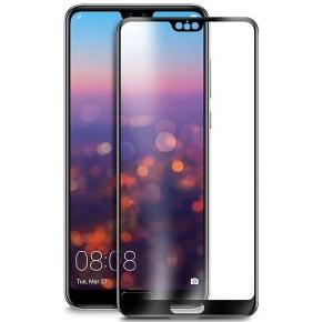 Folie sticla securizata 5D Full Glue Huawei P20, Negru