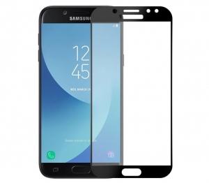 Folie sticla securizata 5D Full Glue Samsung Galaxy J7 (2017), Negru