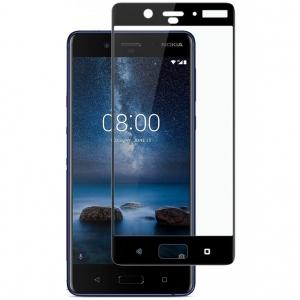 Folie sticla securizata Full Glue Nokia 8, Black