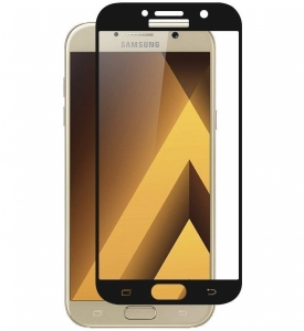 Folie sticla securizata Full Glue Samsung Galaxy A7 (2017), Black