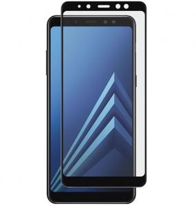 Folie sticla securizata Full Glue Samsung Galaxy A8 Plus (2018), Black
