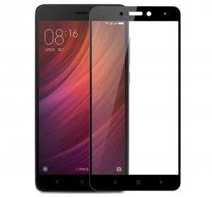 Folie sticla securizata Full Glue Xiaomi Redmi Note 4 (Mediatek), Black