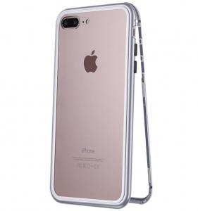 Husa 360 Magnetic Case pentru iPhone 7 Plus, Silver