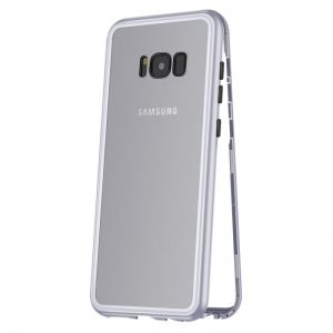 Husa 360 Magnetic Case pentru Samsung Galaxy S8 Plus, Silver