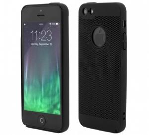 Husa Air cu perforatii iPhone 5 / 5S / SE, Negru