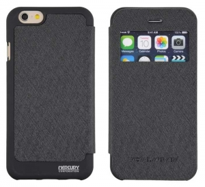 Husa Book View Mercury Goospery Wow iPhone 7, Black