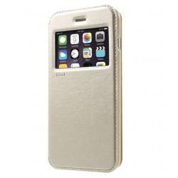Husa Book View Roar Noble iPhone 7 Plus, Gold