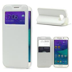 Husa Book View Roar Noble Samsung Galaxy S6 Edge, Alb