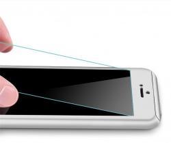 Husa Full Cover 360 (fata + spate + geam sticla) pentru Apple iPhone 6 / 6S, Silver