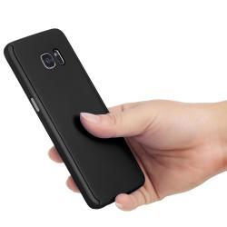 Husa Full Cover 360 (fata + spate) pentru Samsung Galaxy S7 Edge, Negru