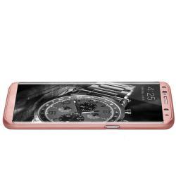 Husa Full Cover 360 (fata + spate) pentru Samsung Galaxy S8 Plus, Rose  Gold