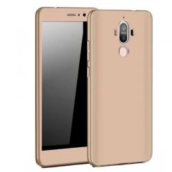Husa Full Cover 360 + folie sticla Huawei Mate 9, Gold