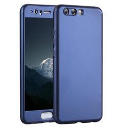 Husa Full Cover 360 + folie sticla Huawei P10 Plus, Albastru