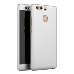 Husa Full Cover 360 + folie sticla Huawei P9, Silver