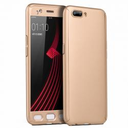 Husa Full Cover 360 + folie sticla OnePlus 5, Gold
