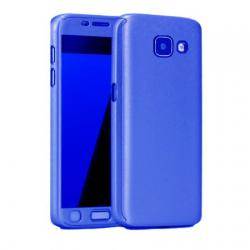Husa Full Cover 360 + folie sticla Samsung Galaxy A3 (2017), Albastru