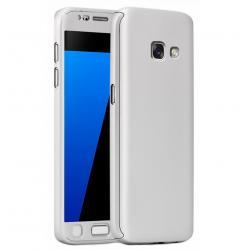 Husa Full Cover 360 + folie sticla Samsung Galaxy A7 (2016), Silver