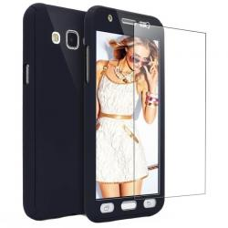 Husa Full Cover 360 + folie sticla Samsung Galaxy J3 (2016), Negru