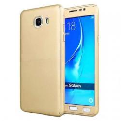 Husa Full Cover 360 + folie sticla Samsung Galaxy J5 Prime, Gold