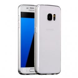 Husa Full Cover 360 + folie sticla Samsung Galaxy S6, Transparent