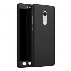Husa Full Cover 360 + folie sticla Xiaomi Redmi Note 4, Negru