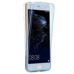 Husa Full TPU 360 (fata + spate) Huawei P10 Plus, Albastru Transparent