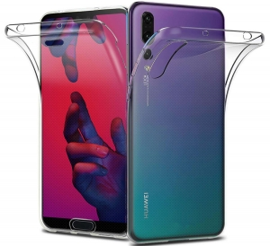 Husa Full TPU 360 fata + spate Huawei P20 Pro, Transparent