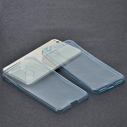 Husa Full TPU 360 (fata + spate) Huawei P9 Lite 2017, Albastru Transparent
