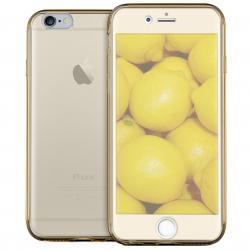 Husa Full TPU 360 (fata + spate) iPhone 8, Gold Transparent