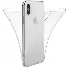 Husa Full TPU 360 fata spate iPhone X, Transparent