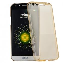 Husa Full TPU 360 (fata + spate) LG G5, Gold Transparent