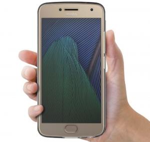 Husa Full TPU 360 fata + spate Motorola Moto G5 Plus, Gri Transparent