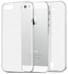 Husa Full TPU 360 (fata + spate) pentru Apple iPhone 5 / 5S / SE, Transparent