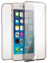 Husa Full TPU 360 (fata + spate) pentru Apple iPhone 7 Plus, Gri Transparent
