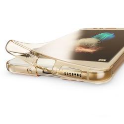 Husa Full TPU 360 (fata + spate) pentru Huawei P10 Lite, Gold Transparent