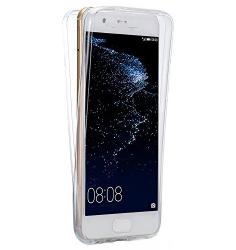 Husa Full TPU 360 (fata + spate) pentru Huawei P10, Transparent