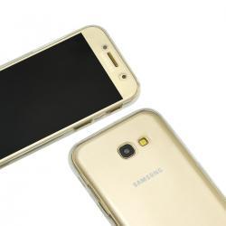 Husa Full TPU 360 (fata + spate) pentru Samsung Galaxy A7 (2017), Transparent