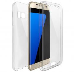 Husa Full TPU 360 (fata + spate) pentru Samsung Galaxy S6 Edge Plus, Transparent