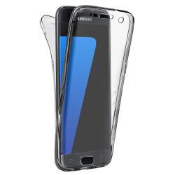 Husa Full TPU 360 (fata + spate) pentru Samsung Galaxy S6, Gri Transparent