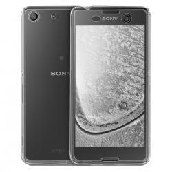 Husa Full TPU 360 (fata + spate) pentru Sony Xperia M5, Gri transparent