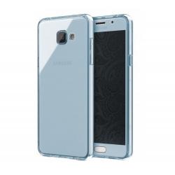 Husa Full TPU 360 (fata + spate) Samsung Galaxy A5 (2016), Albastru Transparent
