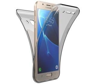 Husa Full TPU 360 fata spate Samsung Galaxy J7 Prime, Gri Transparent