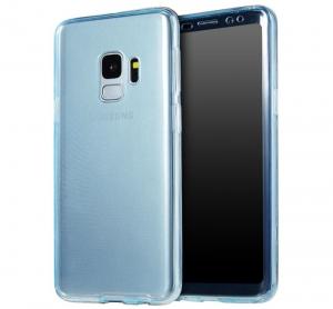 Husa Full TPU 360 fata + spate Samsung Galaxy S9 Plus, Albastru Transparent