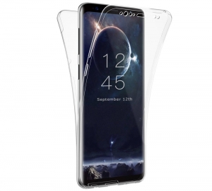 Husa Full TPU 360 fata + spate Samsung Galaxy S9 Plus, Transparent
