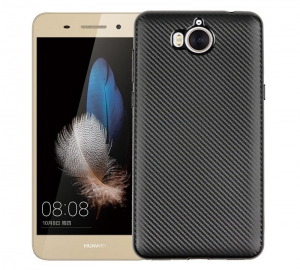 Husa Huawei Y6 2017 i-Zore Carbon, Negru