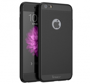 Husa iPaky 360 Air + folie sticla iPhone 6 / 6S, Black