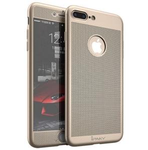 Husa iPaky 360 Air + folie sticla iPhone 7 Plus, Gold